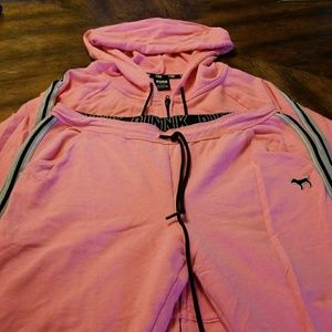 PINK Tops - Hot pink PINK hoodie & joggers size large